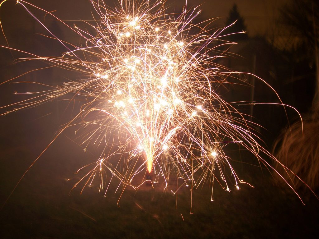 New Year's Eve fireworks 2006 spark joy like Marie Kondo